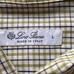 Loro Piana 100% Cotton Button Down Shirt size L